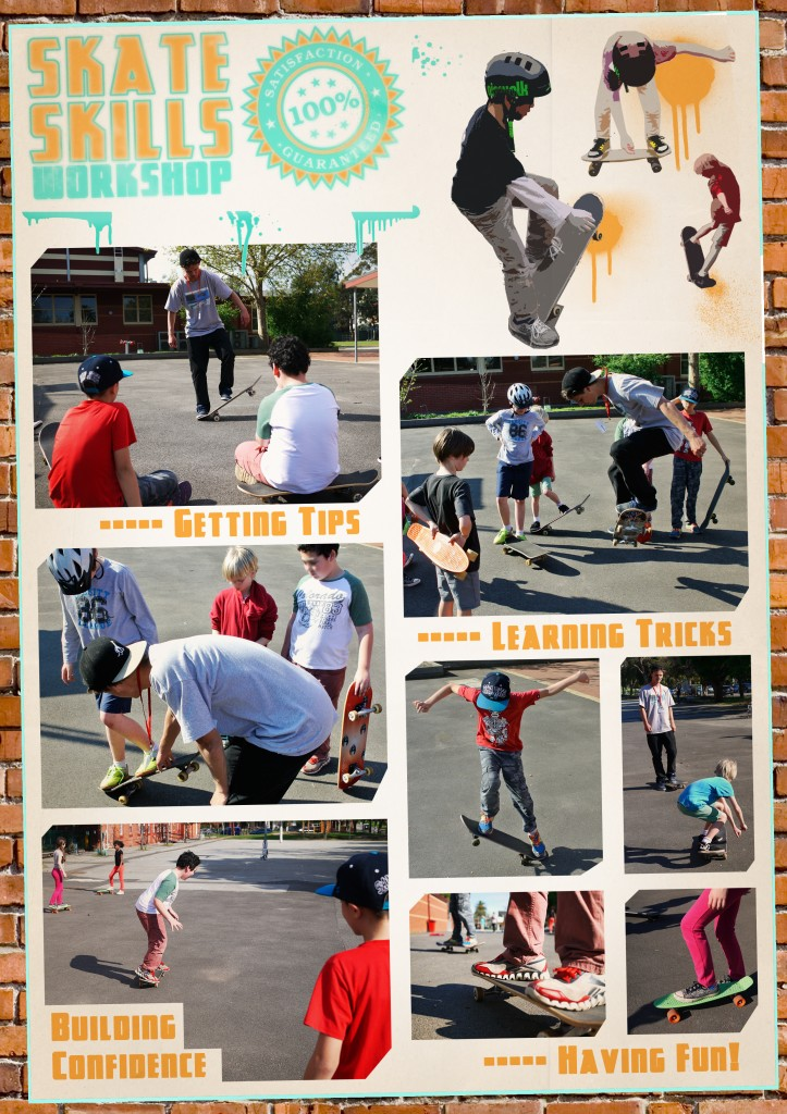 Highlights from the skateboarding incursion.